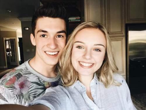 Aviva Mongillo with her boyfriend Josh Bogert