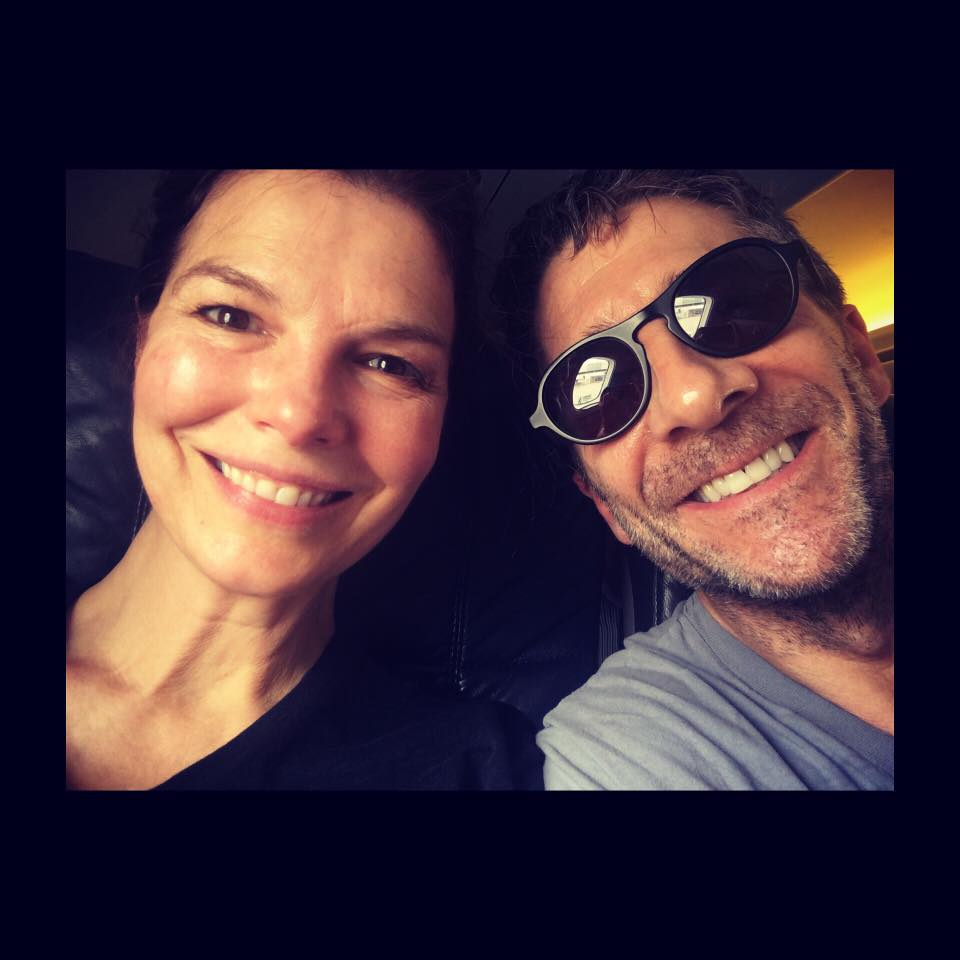 Leland Orser With His Wife Jeanne Tripplehorn