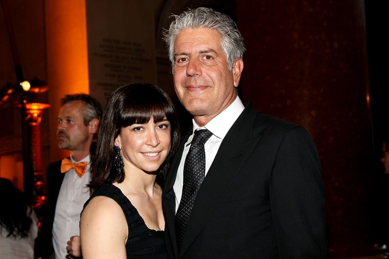 Ariane Bourdain's mother Ottavia Busia and father Anthony Bourdain
