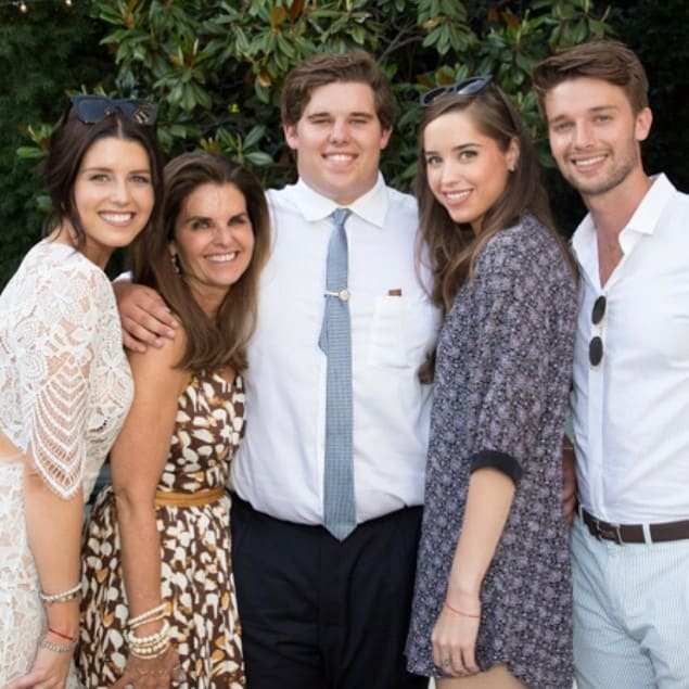 Christina Schwarzenegger with her family