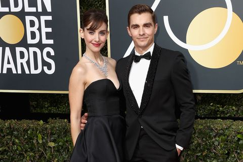 Dave Franco with his wife Alison Brie