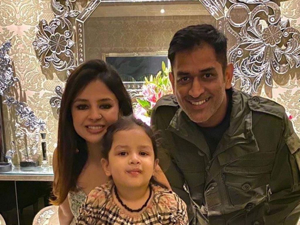 M.S. Dhoni family ziva