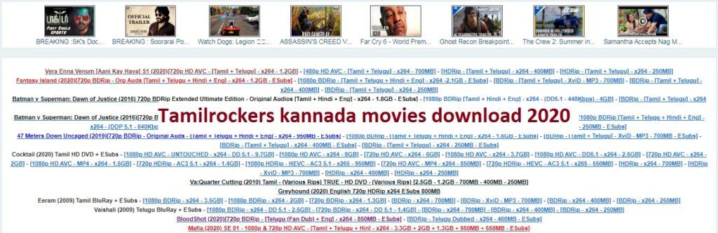 Tamilrockers kannada movies