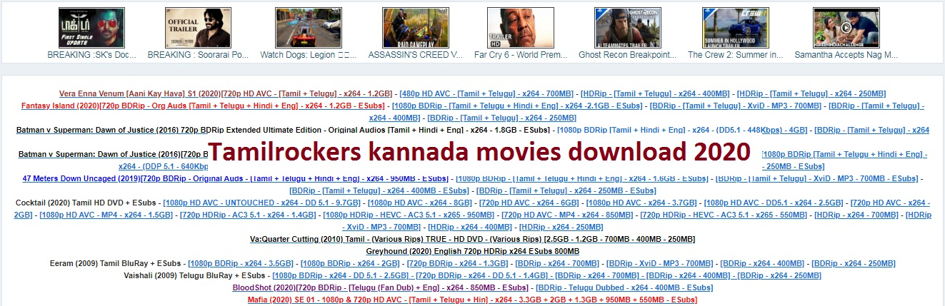 Tamilrockers kannada movies
