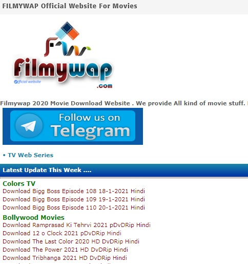 Filmywap HD movies
