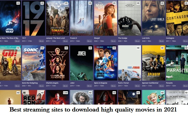 Best streaming sites to download high quality movies in 2021